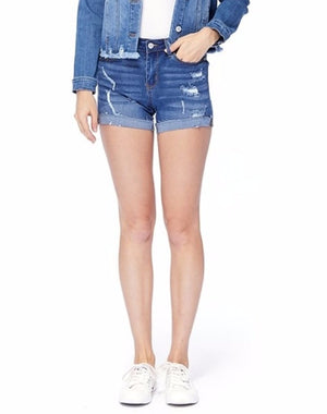 Judy Blue Raw Hem Shorts