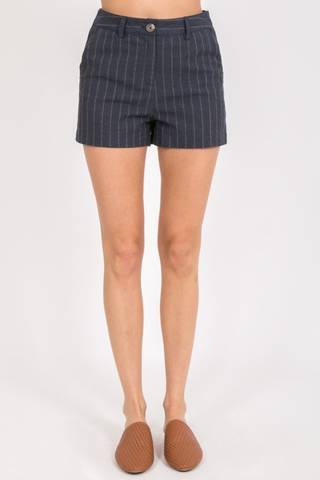 Pretty In Pinstripe Shorts