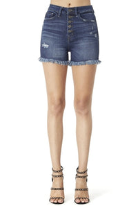 KanCan Button Front Shorts
