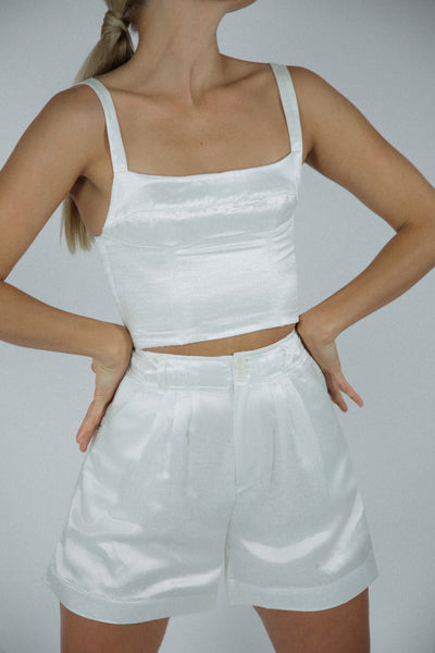 Cassie Top in Ivory Silk