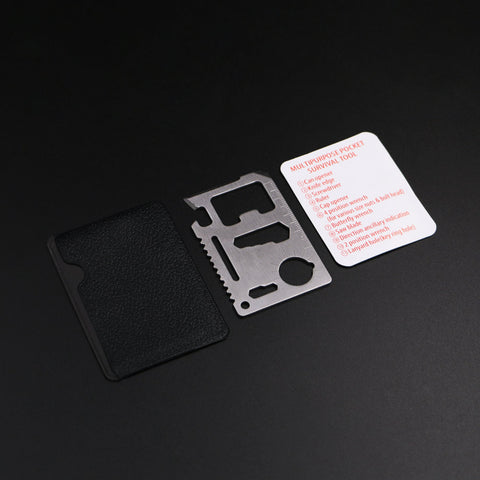 Camping Credit Card 11 in 1 Multi Tools Knife / Saw