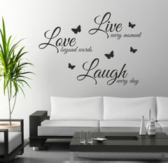 Live Love Laugh Wall Sticker