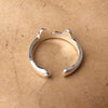 Image of Cat Ear and Paw Ring, Silver Plated