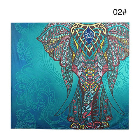 Indian Elephant Tapestry Wall Carpet