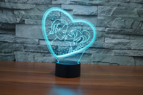 Color Changing Lovers Night Lamp