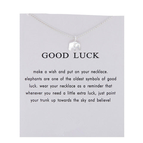 Good Luck Elephant Pendant Necklace