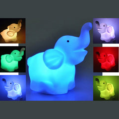LED Color Changing Elephant Night Light Lamp