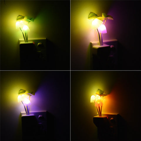Romantic Colorful LED  Mushroom Night Light Lamp