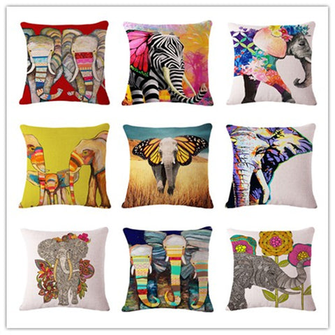 Colorful Elephant Cushion Covers - 14 Younique Designs