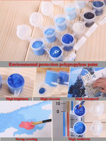 Jumping Dolphins - Van-Go Paint-By-Number Kit