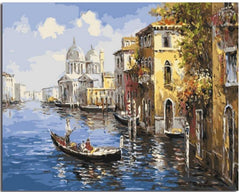 Gondola On The Canal - Van-Go Paint-By-Number Kit