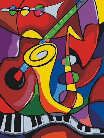 Music Instruments Picasso - Van-Go Paint-By-Number Kit