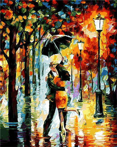 Couple In The Rain - Van-Go Paint-By-Number Kit