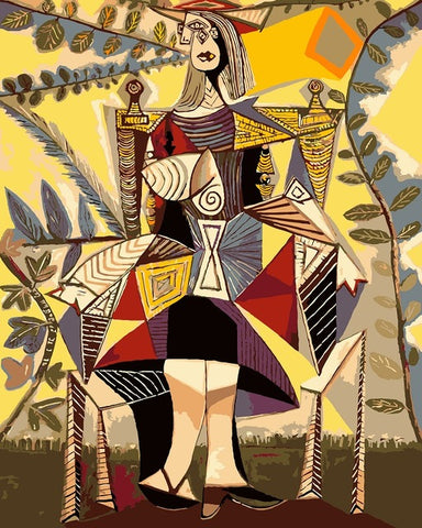 Picasso Abstract Woman - Van-Go Paint-By-Number Kit
