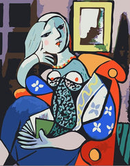 Picasso's Woman with Book - Van-Go Paint-By-Number Kit