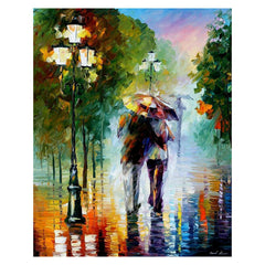 Couple in Rain - Van-Go Paint-By-Number Kit