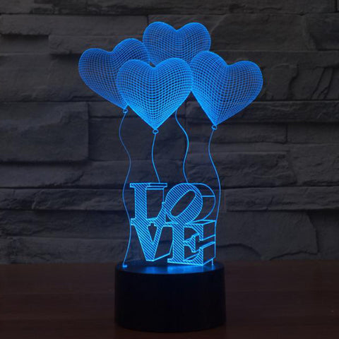 LOVE Color Changing LED Lamp / Nightlight