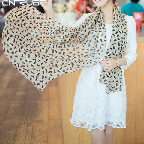 Beautiful Chiffon Cat Scarf - 3 Colors