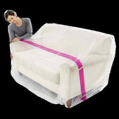 2x Furniture 3 Amp 2 Seater Couch Plastic Cover Moving