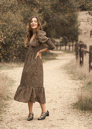 Les Femmes Vetiver Dress