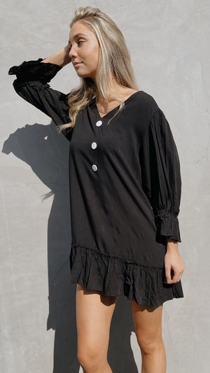 Black Swing Mini Dress