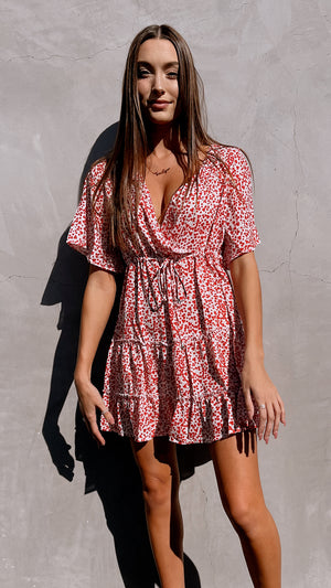 Torrey Red Dotted Mini Dress