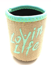 Lovin Life Can or Bottle Holder - Ice Green