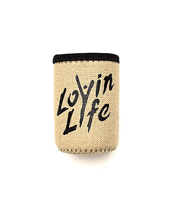 Lovin Life Can or Bottle Holder - Black