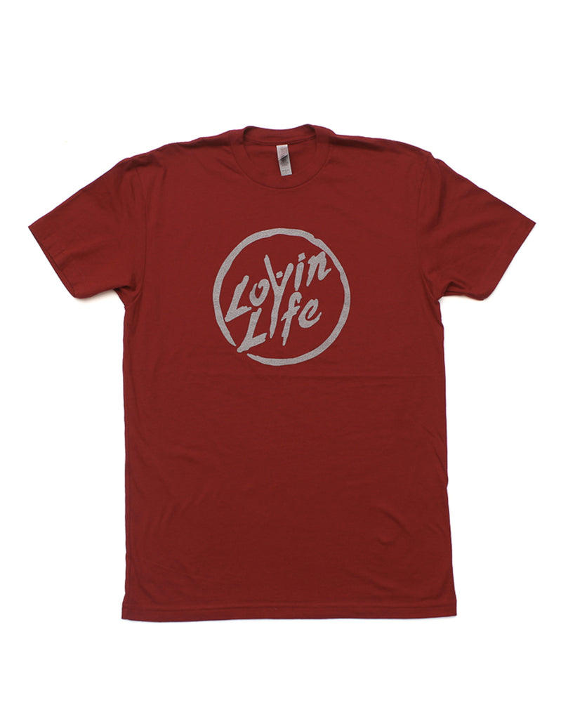 "Lovin Life ""The Original"" Men's Tee - Cardinal"