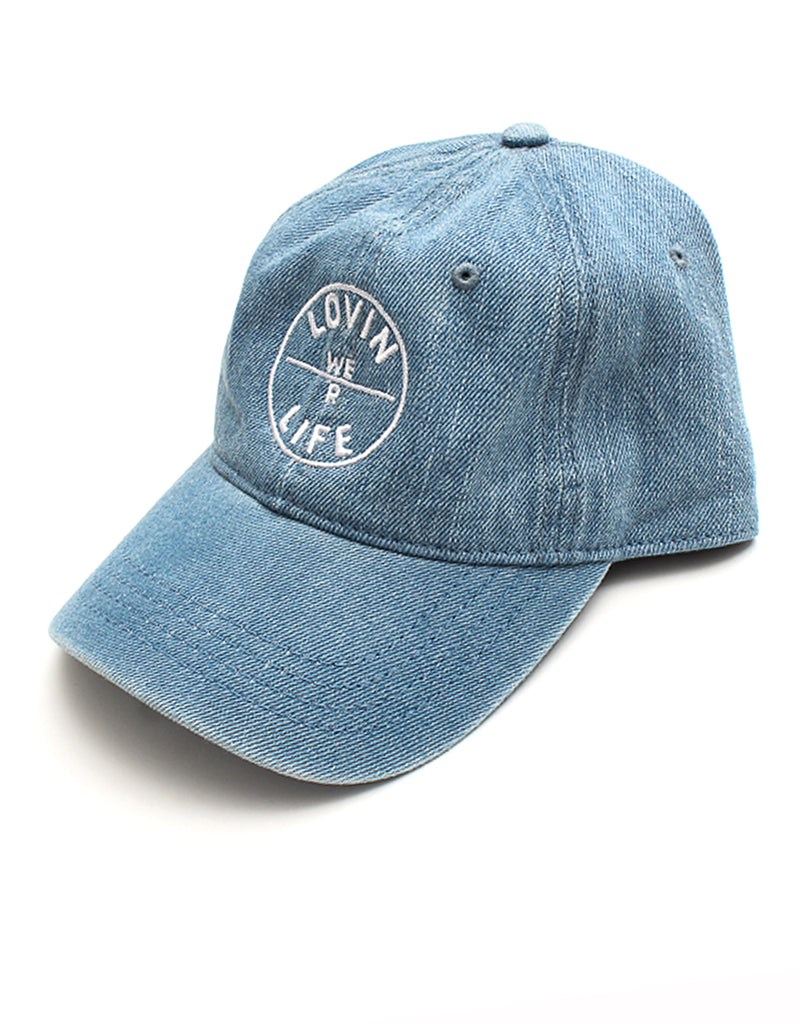 We R Lovin Life Dad Cap - Denim
