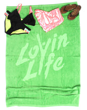 Lovin Life Towel - Green