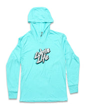 Lovin Life Long-Sleeve Hooded Tee - Tahiti Blue