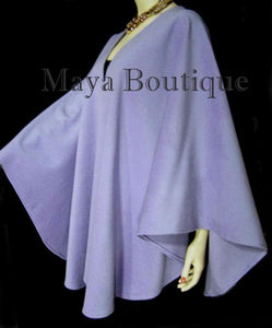 Cashmere Cape Ruana Coat Wrap Periwinkle USA Made Maya Matazaro