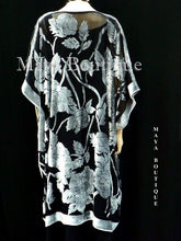Jacket Kimono Duster Silk Burnout Velvet Copper & Black No Fringe Maya Matazaro