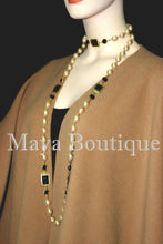 Moca Cape Ruana Wrap Coat Cashmere Wool Blend by Maya Boutique Made in USA