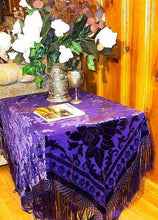 Silk Piano Shawl Wrap Scarf Burnout Velvet Purple Maya Shawl