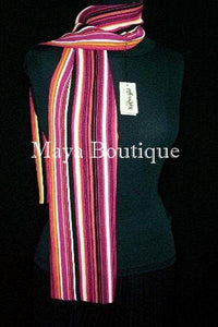 SCARF BELT PINK STRIPES MAYA MATAZARO MADE IN USA NEW