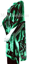 Caftan Dress Kimono Silk Burnout Velvet Green Black Hand Dyed Maya Matazaro