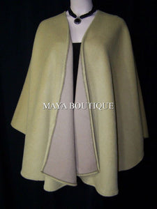 CAMEL Cape Ruana Wrap Coat Camel hair Wool & Cashmere Blend by Maya Matazaro