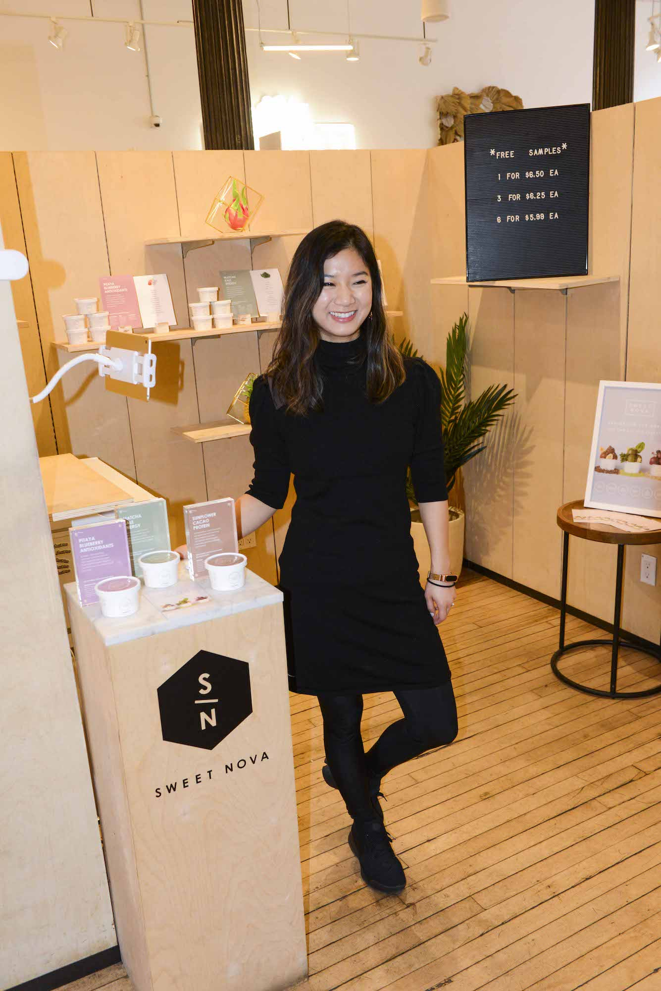 Caroline Tseng, Founder and CEO of Sweet Nova. Photo taken by Liz Barclays