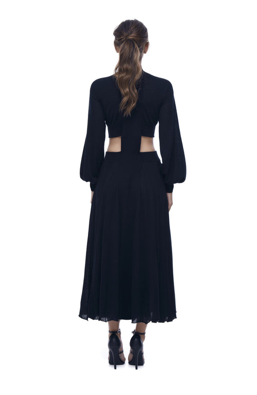 Midnight Glow Jersey Knit Maxi Dress