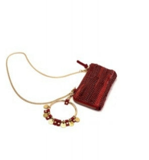 "Leather Pochette - ""LOOLOO"" RED"