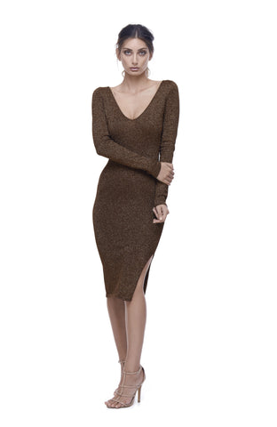 Astrologia Knit V-Neck Dress