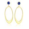 F + H Pearl Drop Earrings - Multicoloured: Brass + 18K Gold Plating + Freshwater Pearls