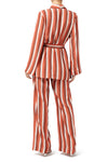 Dakota Lounge Jacket - Peach Stripe