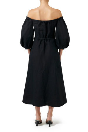 Havana Midi Dress - Black