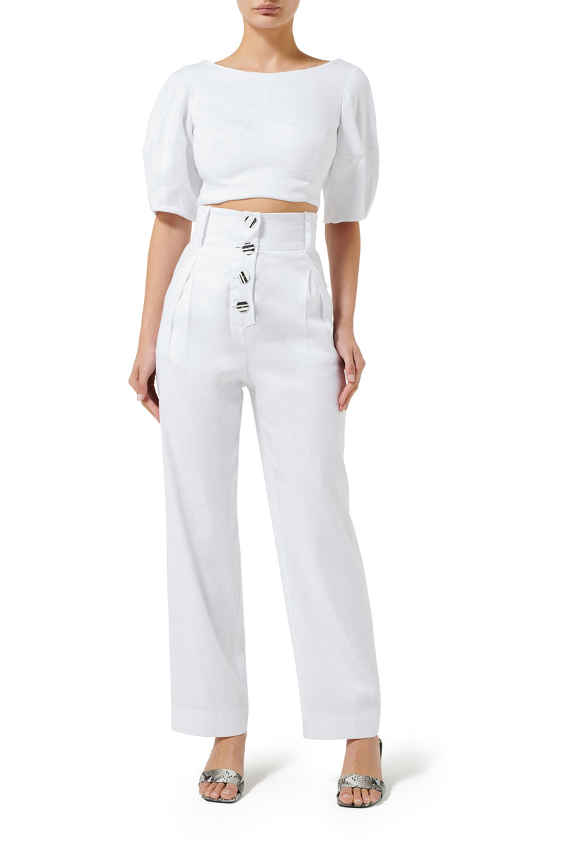 Lolita Cropped Blouse - White