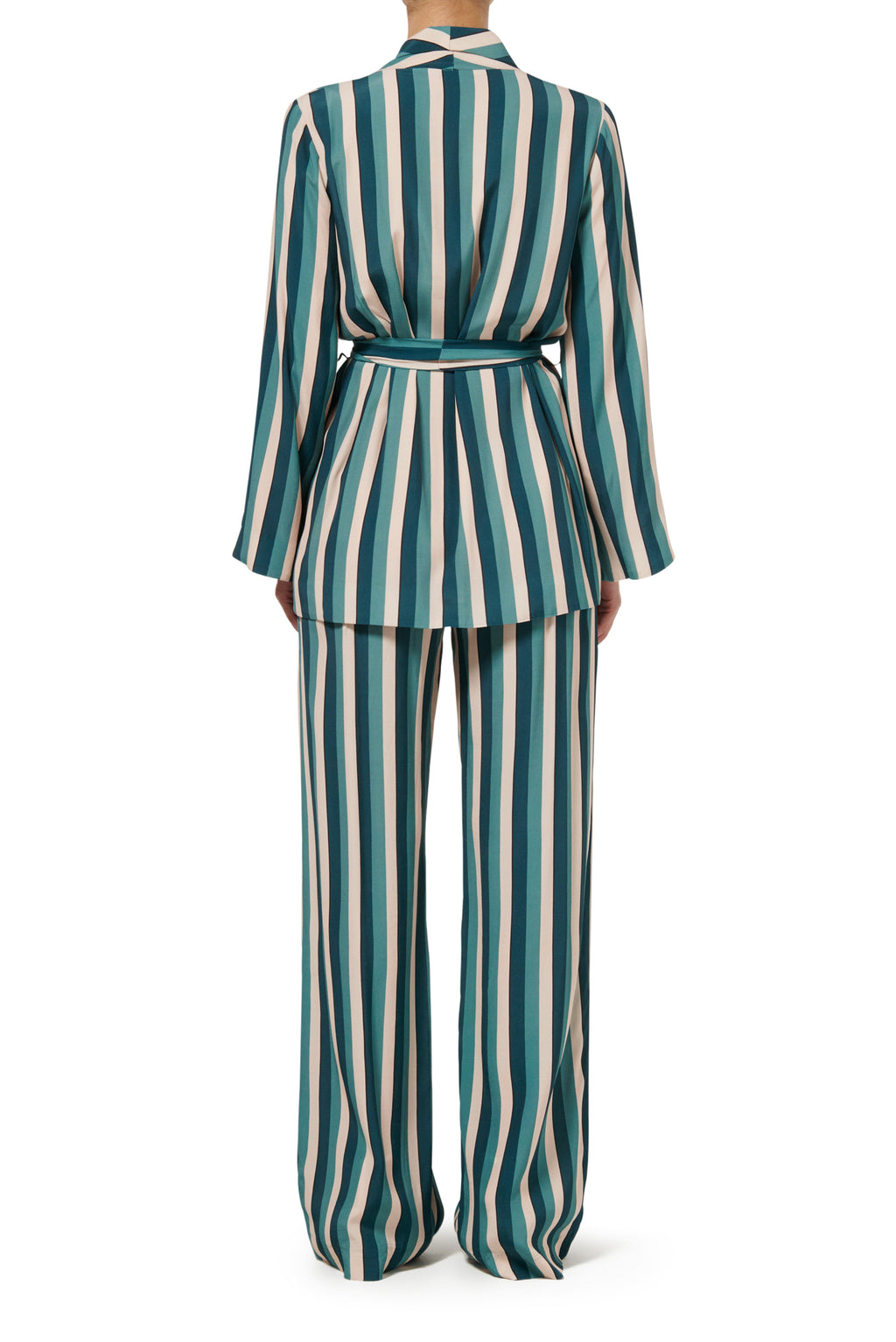 Calypso Lounge Jacket - Teal Stripe - PRE ORDER
