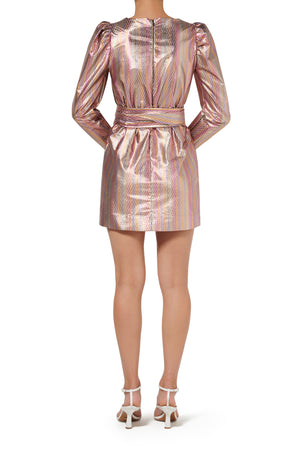 Clio Mini Dress - Metallic Stripe - PRE ORDER