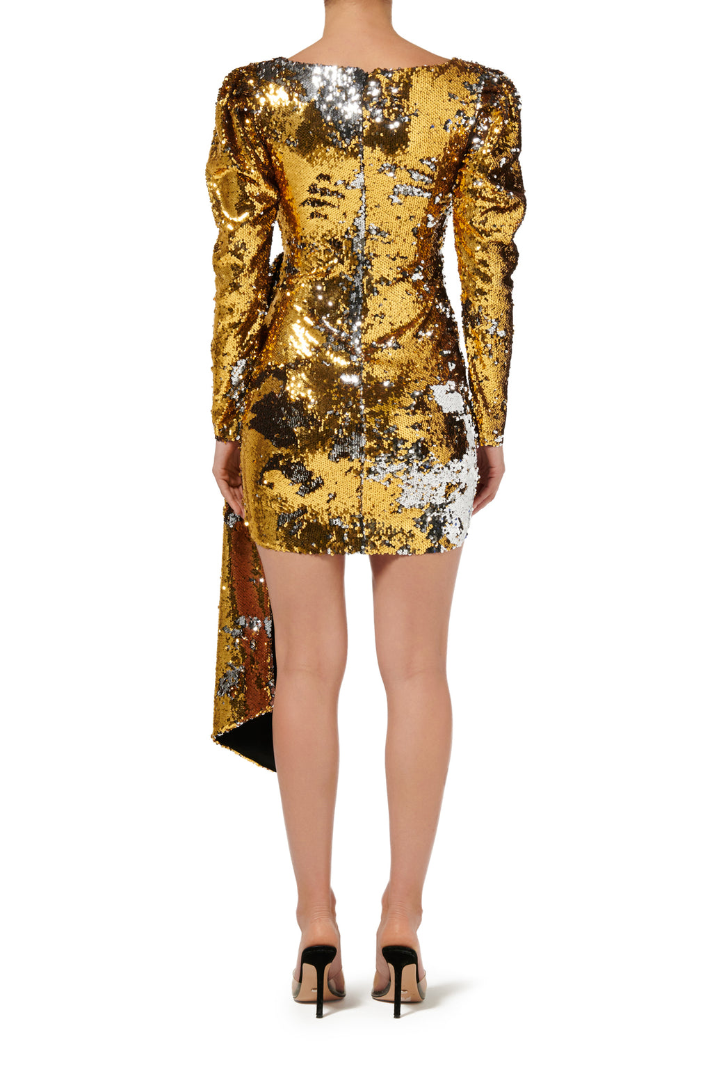 Fashion Rebellion Sequin Mini Dress - Gold